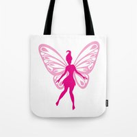 fairy Tote Bags featuring fairy by Li-Bro