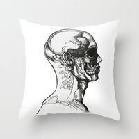 anatomy Throw Pillows featuring Anatomy  by Cjillustrations