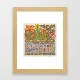 I Perhaps Owe Having Become a Painter...(Grow Free Series) Framed Art Print
