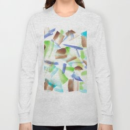 180719 Koh-I-Noor Watercolour Abstract 8| Watercolor Brush Strokes Long Sleeve T-shirt