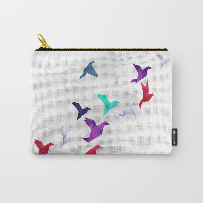Paper birds Carry-All Pouch