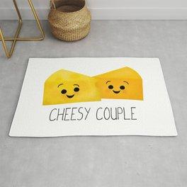 Cheesy Couple | Swiss & Cheddar Cheese Rug