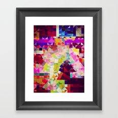 paper cut horse Framed Art Print
