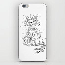 Disgruntled Cat iPhone Skin