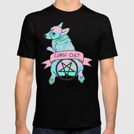 Corgi Cult Witchy 90s Hologram dog print T-shirt