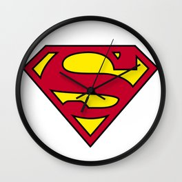 Superman Logo PNG II Wall Clock