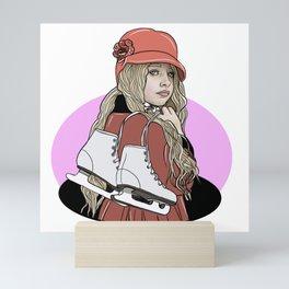 Pretty skater girl Mini Art Print