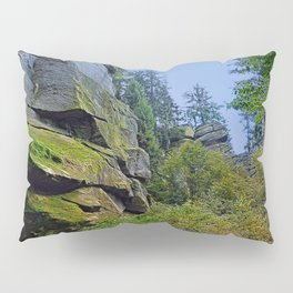 Mountain, granite rocks and pure nature | landscape photography Pillow Sham