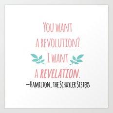 THE SCHUYLER SISTERS   HAMILTON Art Print