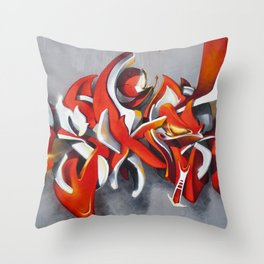 Overline 11 Throw Pillow
