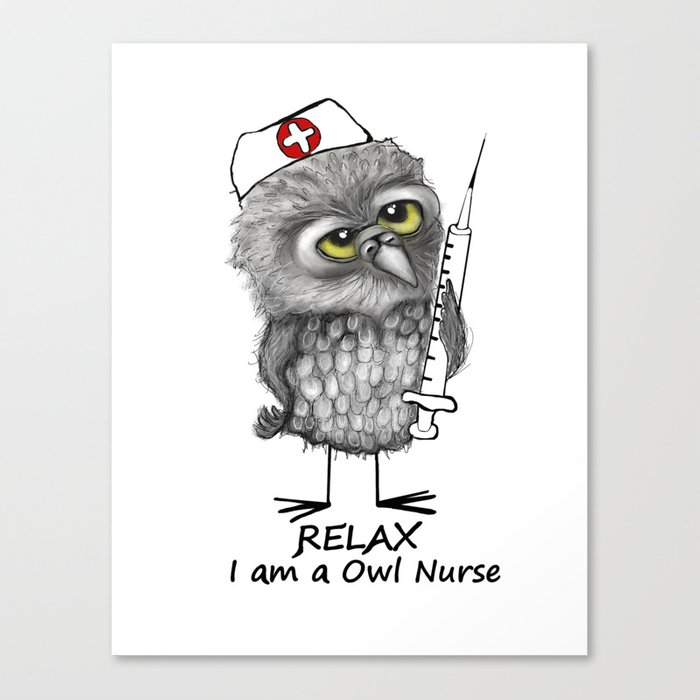 Owl Nurse Canvas Print