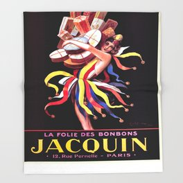 Vintage poster - Jacquin Throw Blanket