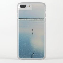 Flying over Saline Clear iPhone Case