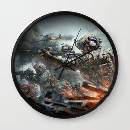 US Marines Devil-Dogs are marching on Wall Clock