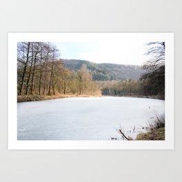 Frozen lake in Germany Art Print