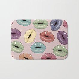 Lips pattern Bath Mat