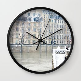 Stairway to the Seine Wall Clock