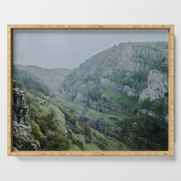 Cheddar Gorge in the Rain Serving Tray