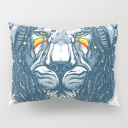 Lion with Dreadlocks Pillow Sham