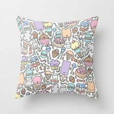 Kawaii Sweet Treats Throw Pillow
