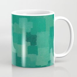 Squares Within Squares Green Coffee Mug