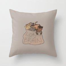 Loki's Brain Throw Pillow