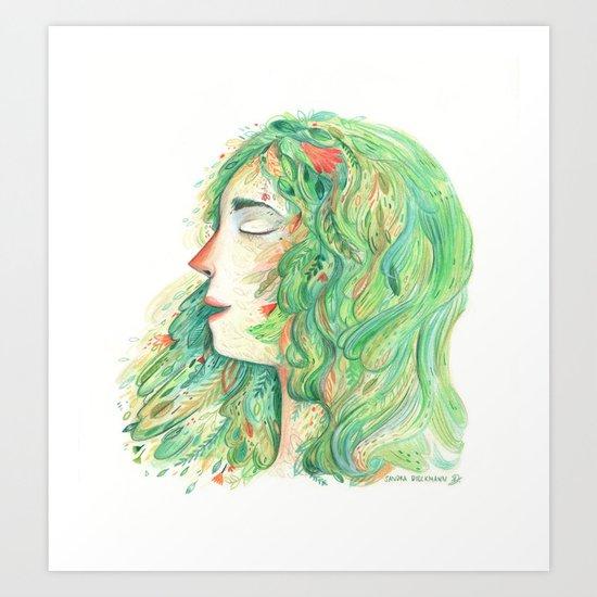 Lady Wildish Art Print