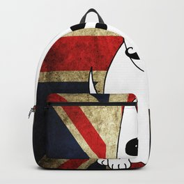 Great Britain Flag Bull Terrier Dog Black Eye Art Print Wall Decoration Wall Design Graphic Backpack
