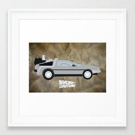 The DeLorean Framed Art Print