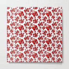 Striking Red Poinciana Floral Print Metal Print
