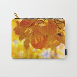 Sunlight through autumn aspen leaves Carry-All Pouch