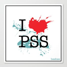 I Love Paesello Canvas Print