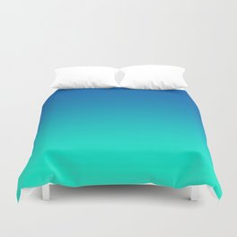 Teal Mint Ombre Duvet Cover