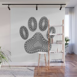 Ink Dog Paw Print Wall Mural