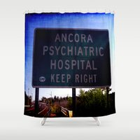 psych Shower Curtains featuring Ancora Psych by Groovyal
