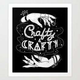 Crafty & Crafty - B&W Art Print