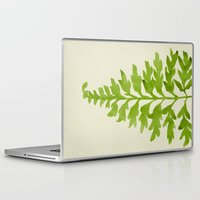 lime Laptop & iPad Skins featuring Lime Fern by Cat Coquillette