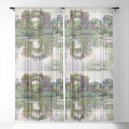 "Claude Monet, "" Flowering Arches "" Sheer Curtain"