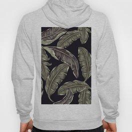 palm leaves black Hoody