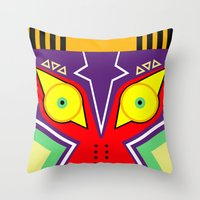 majora Throw Pillows featuring MAJORA by pipocaVFX