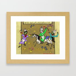 Zombies Through History, Ancient Persia Framed Art Print