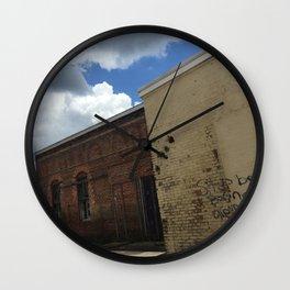 Stop being boring brick wall Alabama Wall Clock