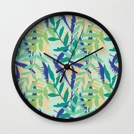 Rotorua Foliage Wall Clock