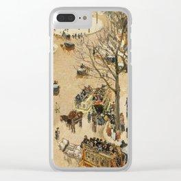 """Camille Pissarro """"La Place due Théâtre Français"""" Clear iPhone Case"""
