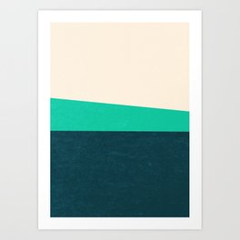 Stripe II Fresh Mint Art Print