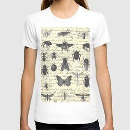 Insect Study on antique journal paper T-shirt