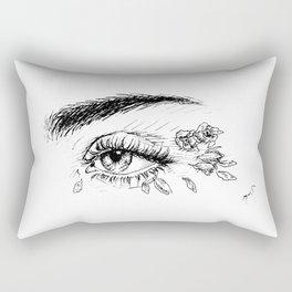 Rose Petals in Her Eyes Rectangular Pillow