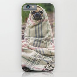 Pug In Blanket iPhone Case