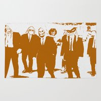 reservoir dogs Area & Throw Rugs featuring Reservoir Awesome by Doctorductape