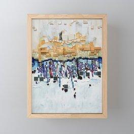 Blue and White Framed Mini Art Print